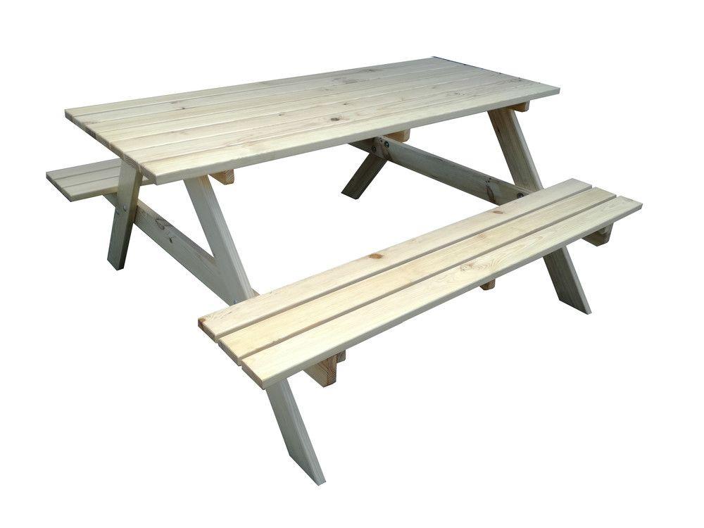 Zestaw ogrodowy drewniany PIKNIK - 160 cm
