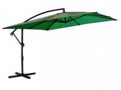 Parasol ogrodowy prostokątny na wysięgniku zielony 270 x 270 cm