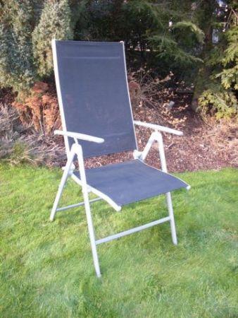 Krzesło ogrodowe składane ANF-26C czarne, regulacja oparcia